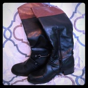 Nautica knee high leather boots
